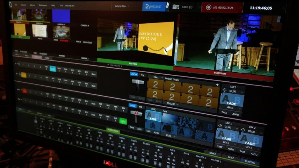 Live stream with the Tricaster
