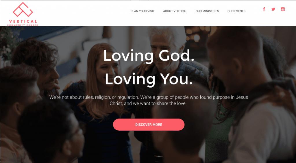 church website strategy example 1 loving god loving you
