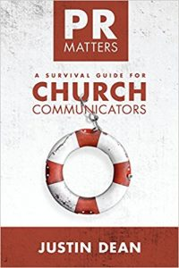pr matters a survival guide for church communicators by justin dean book cover
