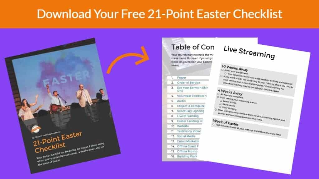 download your free 21 point easter checklist