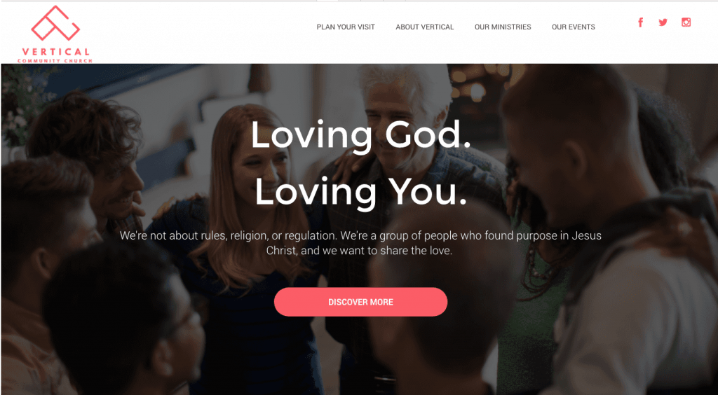 church website strategy example 1 loving god loving you