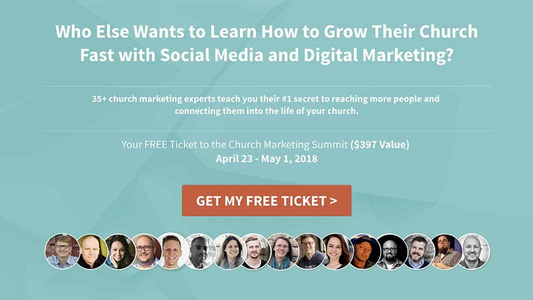 church marketing summit free ticket