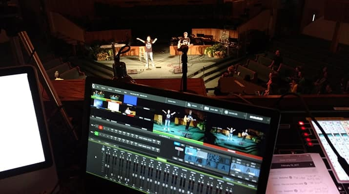 frame your worship band for good live stream quality