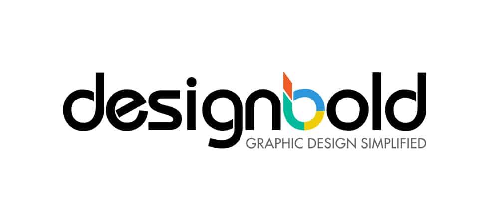designbold logo with the subtitle graphic design simplified